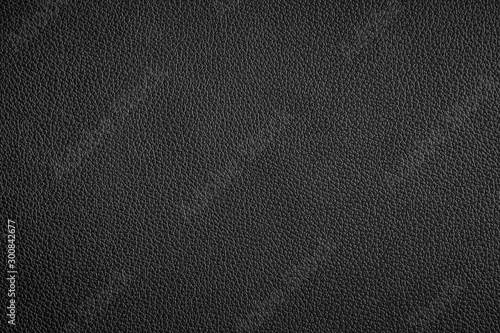Photo Black leather texture can be use as background
