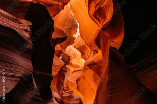 Photo Stands Antelope Beeindruckende Sandstein Formationen im Lower Antelope Canyon in Page/arizona USA