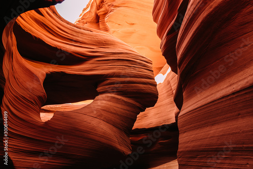 Photo Stands Antelope Beeindruckende Sandsteinformationen im Lower Antelope Canyon in Page / Arizona USA