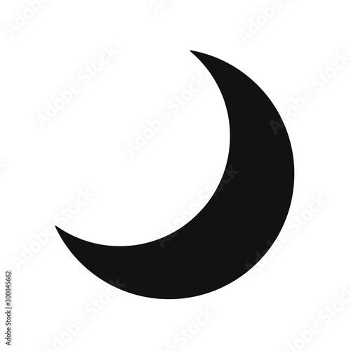 Canvastavla Flat style nighttime half moon icon