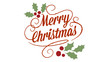 canvas print picture - merry christmas logo, designed in chalkboard drawing style, animated footage ideal for the Christmas period