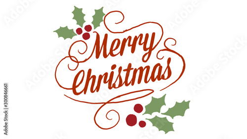 Foto  merry christmas logo, designed in chalkboard drawing style, animated footage ide