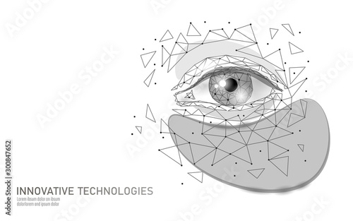 3D eye beauty patches Canvas Print