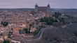 Close up timelapse of Alcazar de Toledo. Day to night time lapse in Toledo.