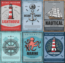 Marine Nautical Adventure. Travel By Sea And Ocean