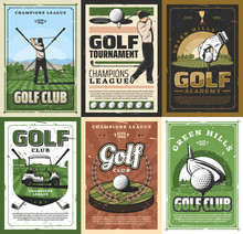 Retro Golf Club Golfing Sport ...