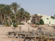 Construction of a hotel on the deserted African Red Sea coast