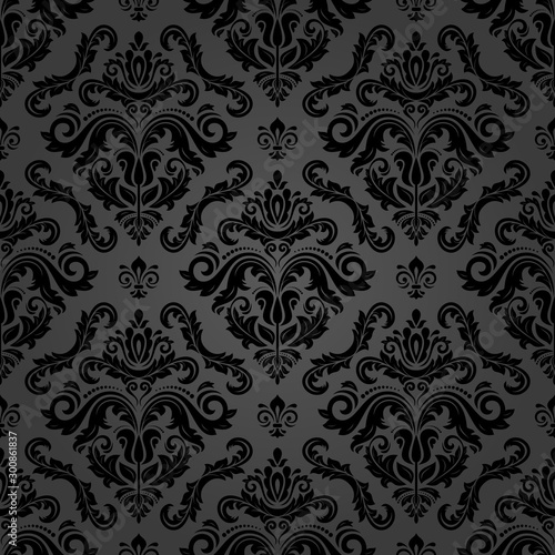 Obraz Classic seamless pattern. Damask orient ornament. Classic vintage dark background. Orient ornament for fabric, wallpaper and packaging - fototapety do salonu