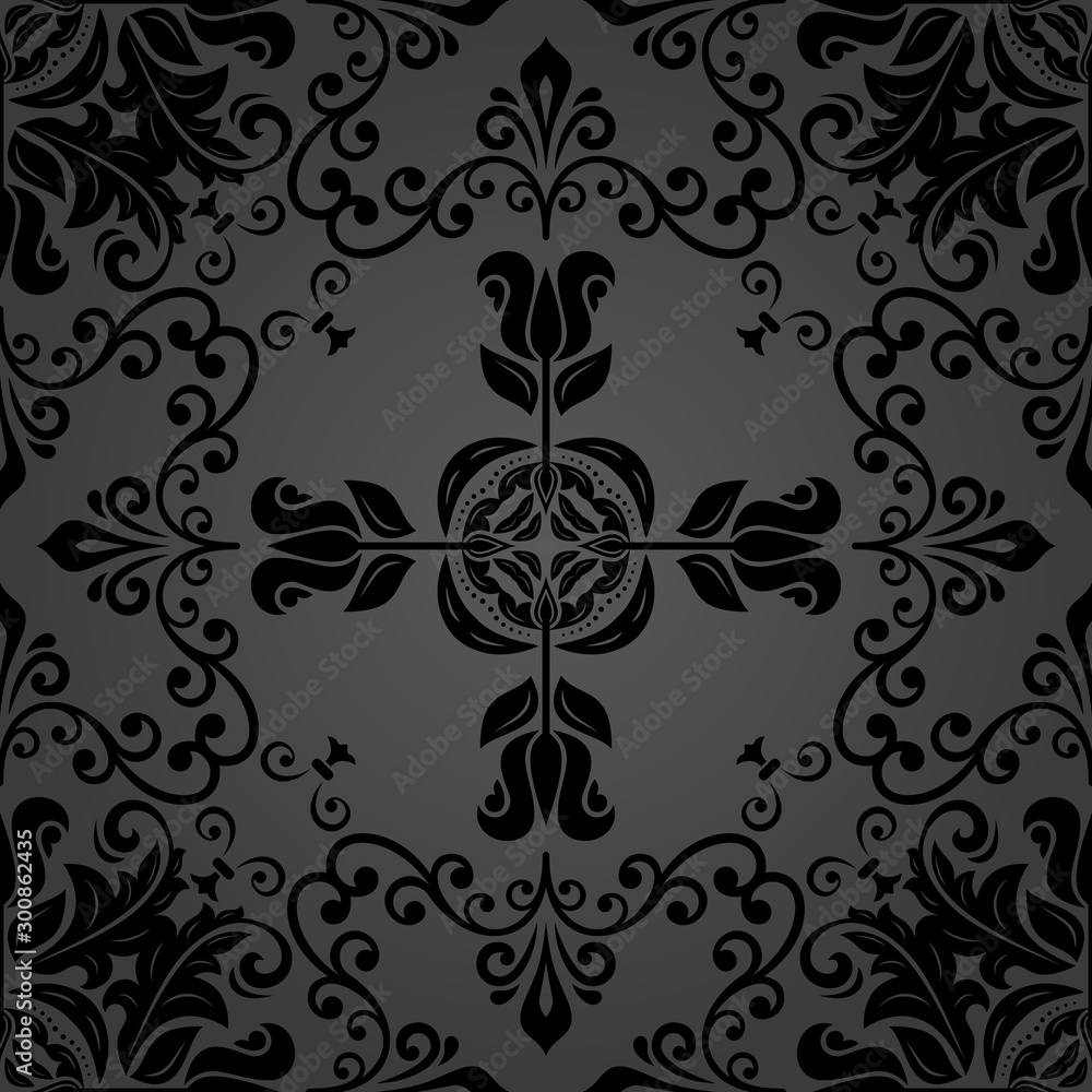 Orient classic pattern. Seamless abstract background with vintage elements. Orient background. dark ornament for wallpaper and packaging
