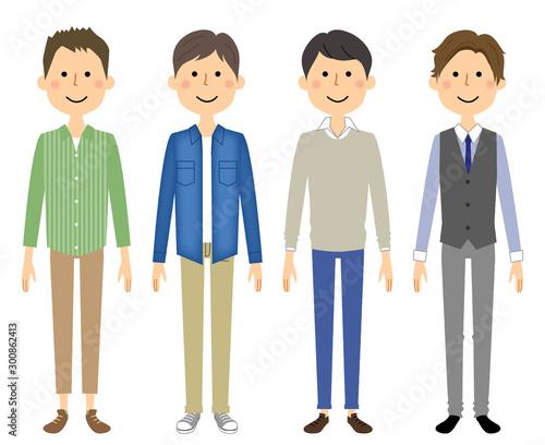 男性達 若い男性