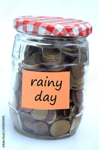 rainy day savings Canvas Print