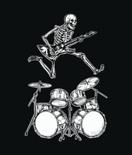 Skeleton Jumps Over The Drum K...