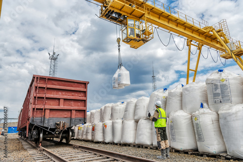 Industrial warehouse for the storage of bulk technological materials Fototapet