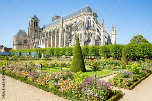 The historic Cathedral of Bourges in Centre-Val de Loire, France Canvas Print