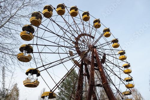 Fototapeta Abandoned ferris wheel in Chernobyl obraz