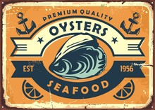 Oysters Vintage Sign Board For...