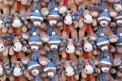 Obraz na plátně  bear Teddy and Christmas elk
