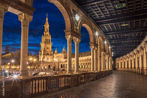Plaza de Espana of Sevilla Wallpaper Mural
