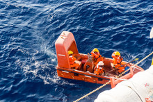 Fast Rescue Craft Being Deploy...