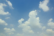 beautiful white clouds on a blue background