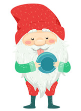 Iceland Yule Lad Bowl Licker Illustration