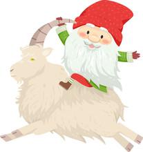 Iceland Yule Lad Sheep Cote Clod Illustration