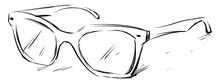 Glasses Sketch, Illustration, ...