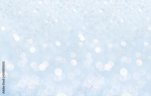 Fototapeta Winter christmas sparkling shiny silver bright glittering abstract bokeh background obraz na płótnie
