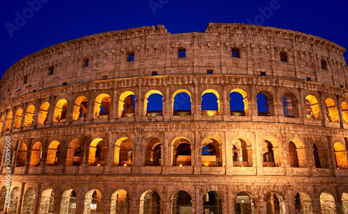 Colosseum golden hour Rome Italy Canvas Print
