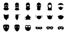 Vector Masks Of Criminals, Ban...