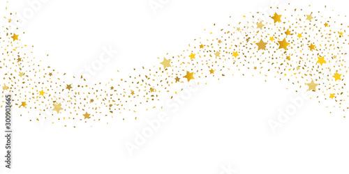 Fotografie, Obraz Gold glitter star.