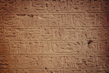Old Egypt Hieroglyphs Carved O...
