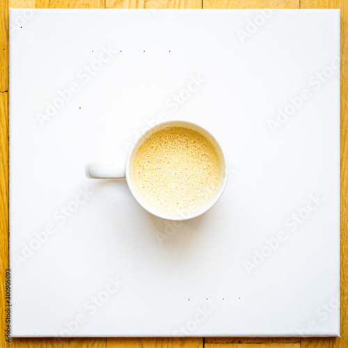 Canvas Prints Cafe cup of coffee on white background