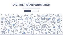 Digital Transformation Doodle Concept