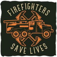 Label Design, Firefighter Theme.