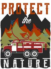 Poster Design, Firefighter Theme.