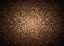 Damask Vintage Gold, Bronze, C...