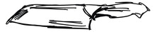 Drawing Of A Knife, Illustrati...