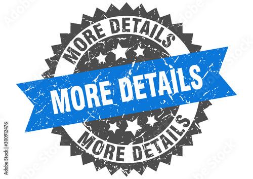 Fototapeta more details grunge stamp with blue band. more details obraz