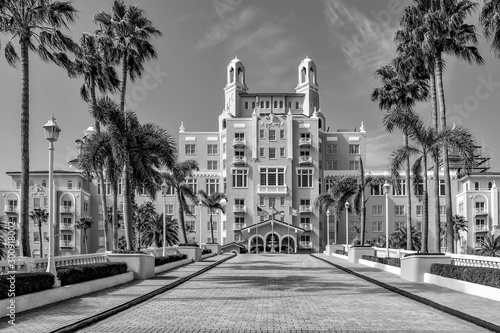 Panoramic view main entrance of The Don Cesar Hotel Canvas Print