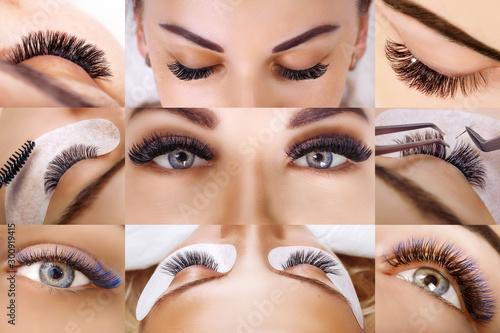 Obraz na plátně  Eyelash extension procedure
