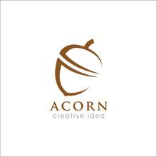 Creative Acorn Concept Logo Design Template