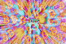 An Abstract Bitcoin Symbol Background Image.