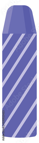 Fototapety, obrazy: Blue thermos, illustration, vector on white background.
