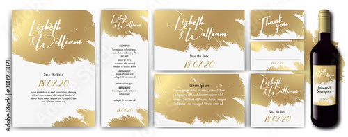 wedding-invite-backgrouns-white-gold Canvas-taulu