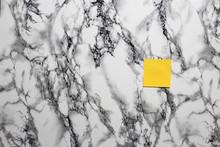 Blank Sticker On Marble Background