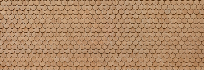 Beautiful wooden shingles at a Bavarian house