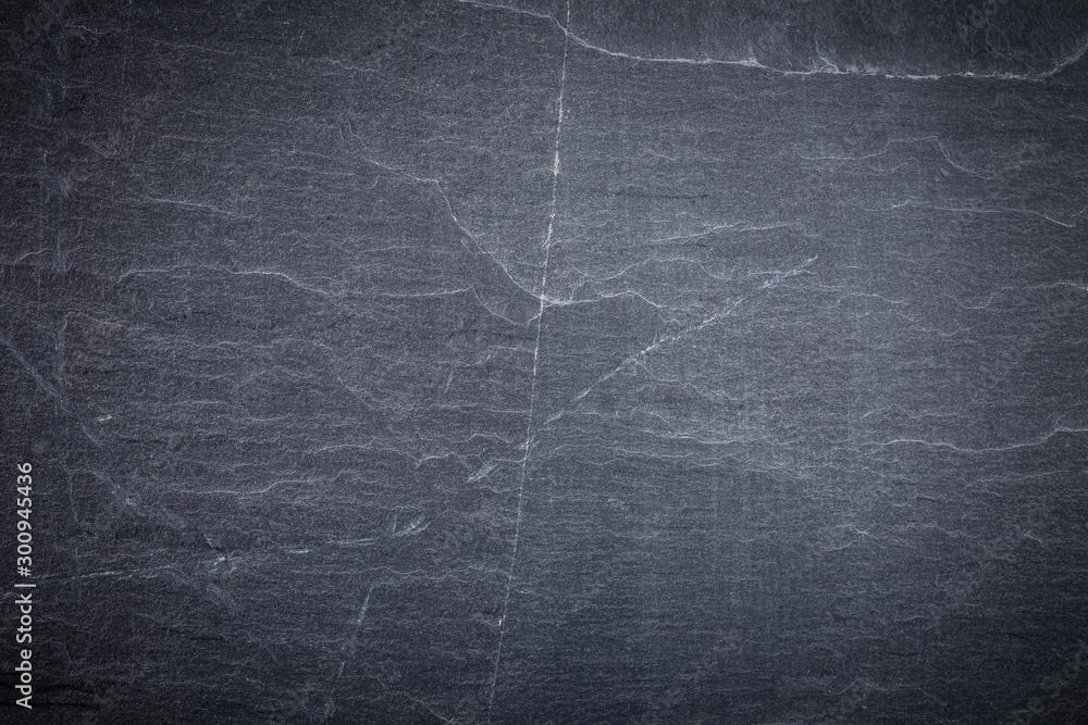 Fototapety, obrazy: Dark grey and black slate background or texture