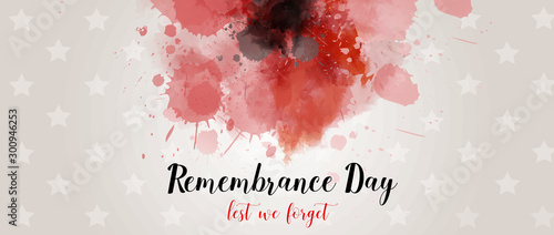 Pinturas sobre lienzo  Remembrance day background with watercolor painted poppy