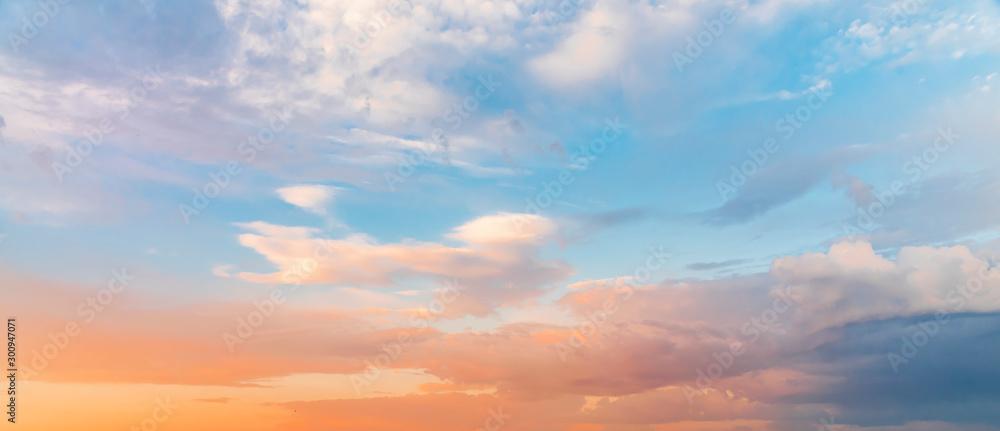 Fototapety, obrazy: Beautiful sunset sky. Nature sky backgrounds.